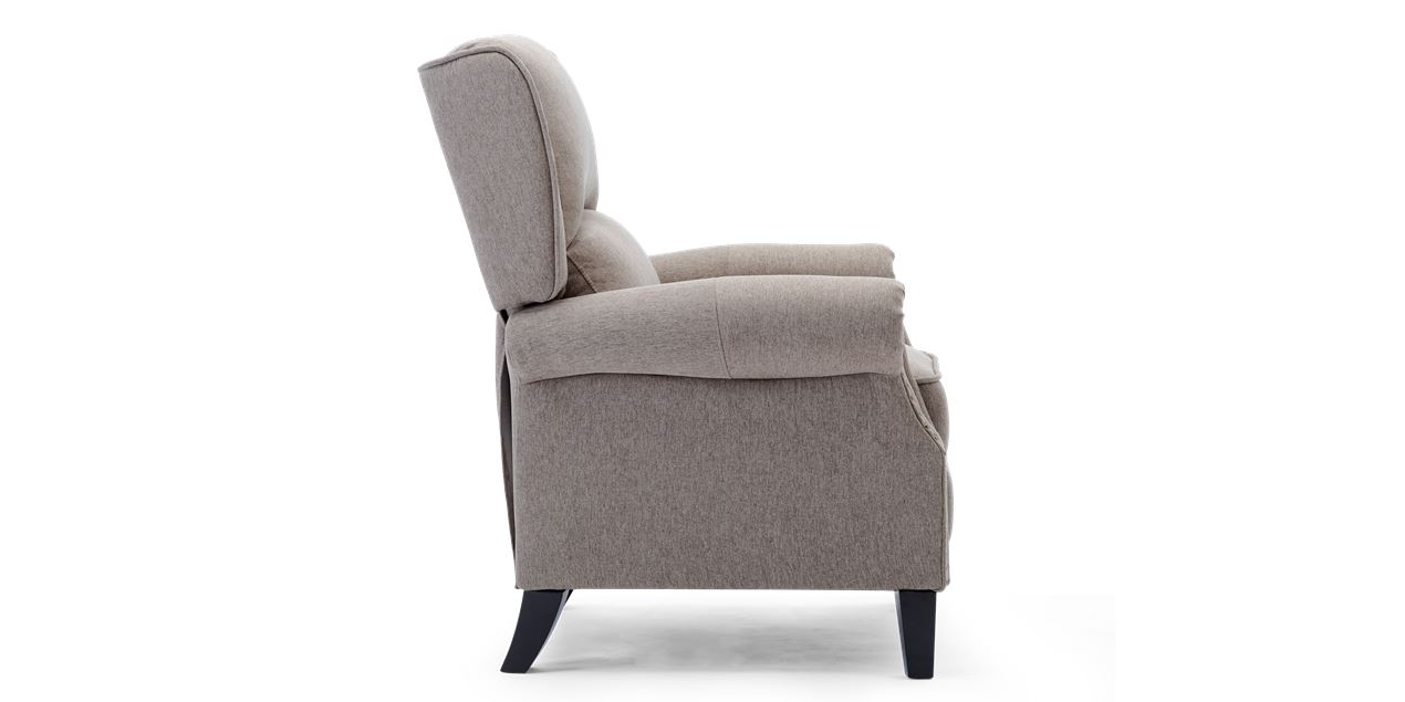 Charlotte Fabric Push Back Recliner Chair in Pumice IMG