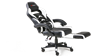 GTForce Turbo Gaming Chair with Recline and Footrest in Black and White Image 1