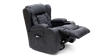 Rockingham Leather Swivel Recliner Chair with Massage and Heat in Black Image 2