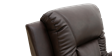 Cameron Leather Push Back Recliner Chair in Brown Image 1