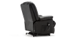 Wilson Rise Recliner Leather Chair in Black Image 4
