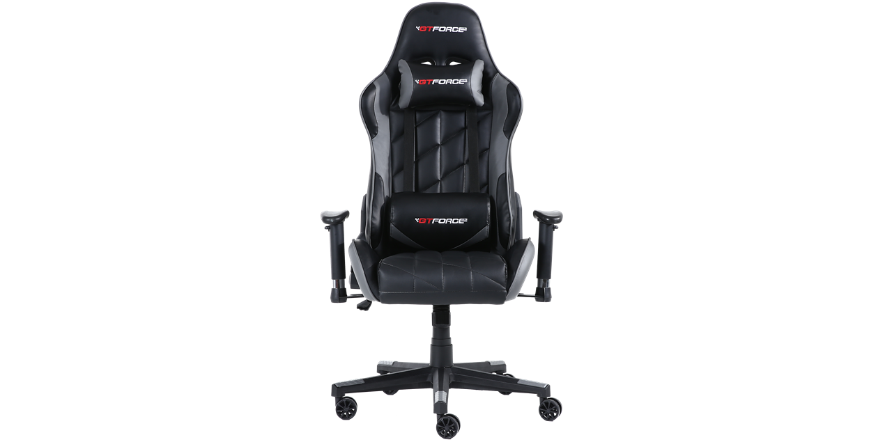 Gtforce Pro Gt Gaming Chair With Recline In Black Grey