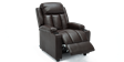 Attenborough Compact Push Back Leather Recliner Chair in Brown Image 4