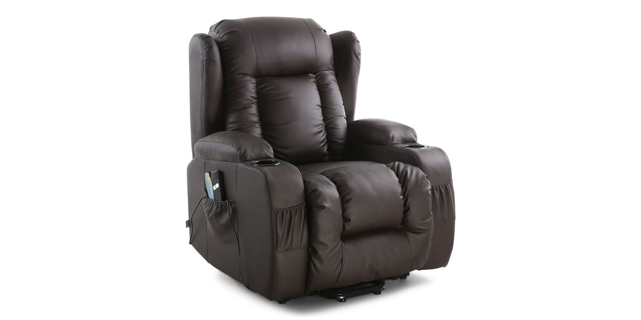 Rockingham Rise Recliner Chair with Massage and Heat in Brown IMG 0 (1270 x 635  sc 1 st  Furniture Online | Recliners Gaming u0026 Occasional Chairs & Rockingham Rise Recliner Chair with Massage and Heat in Brown