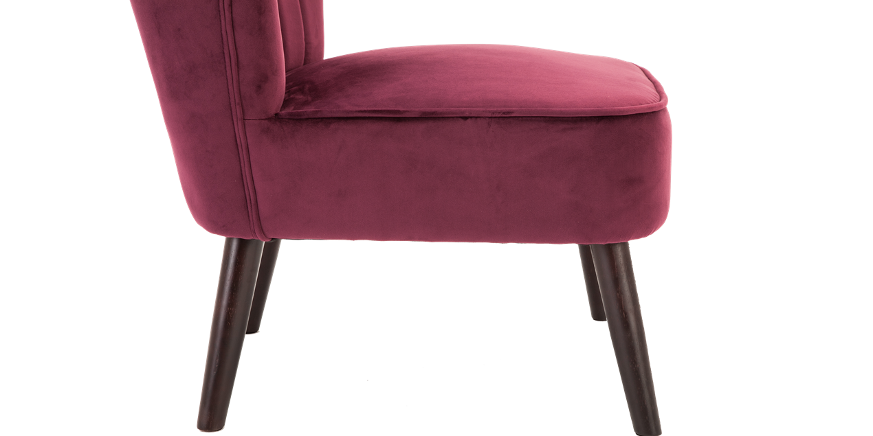Aylenne Accent Chair in Purple Velvet IMG