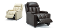 Attenborough Compact Push Back Leather Recliner Chair in Brown Image 6
