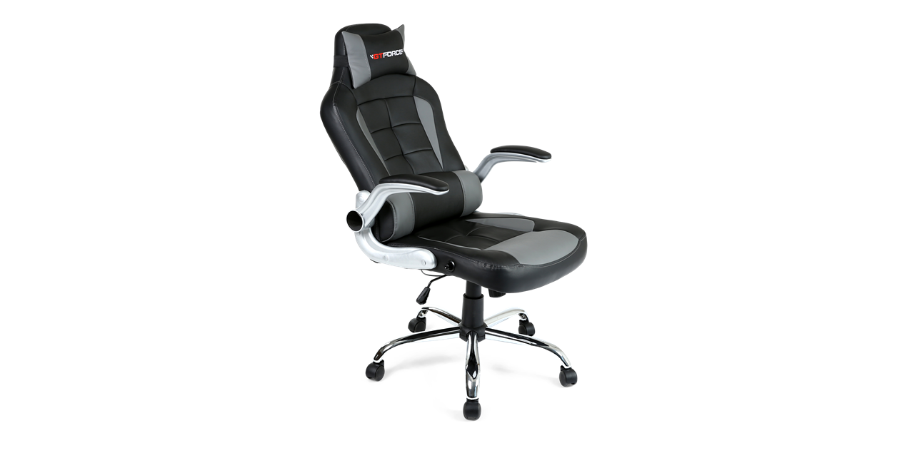 Gtforce Blaze Gaming Chair With Recline In Black Grey