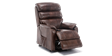 Marlow Leather Rise Recliner Chair in Brown Image 5