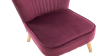 Lydia Accent Chair in Purple Velvet Image 4