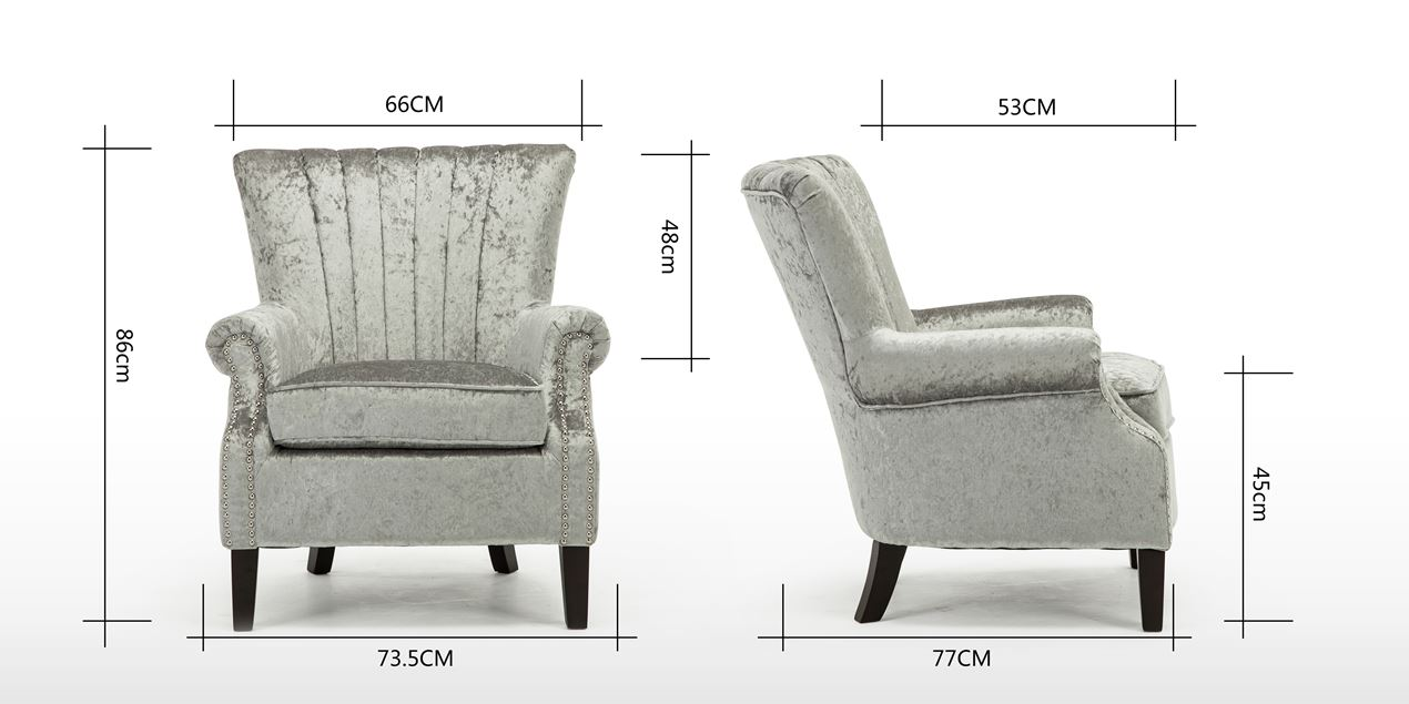 Orlenca Accent Chair In Silver Crushed Velvet IMG 9 (1270 X 635 )