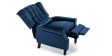 Ascott Recliner Armchair in Midnight Blue Velvet Image 5