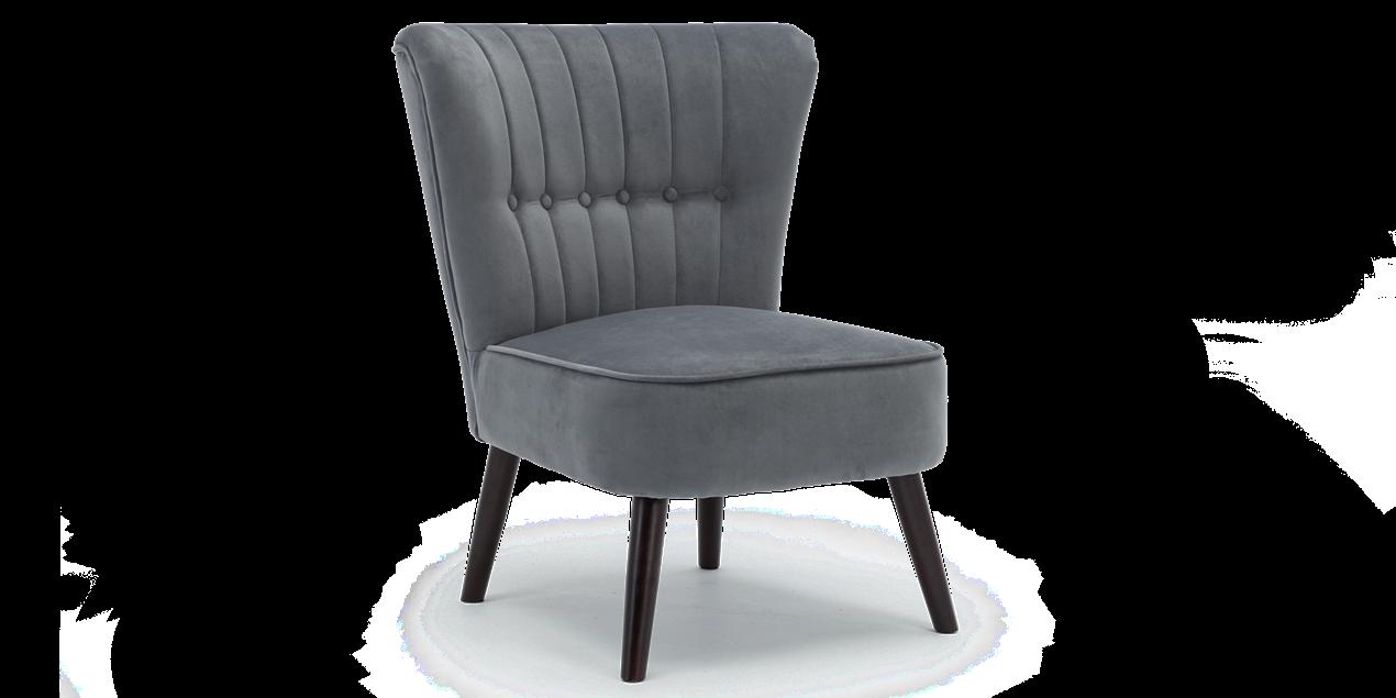 Aylenne Accent Chair In Grey Velvet