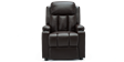 Attenborough Compact Push Back Leather Recliner Chair in Brown Image 1