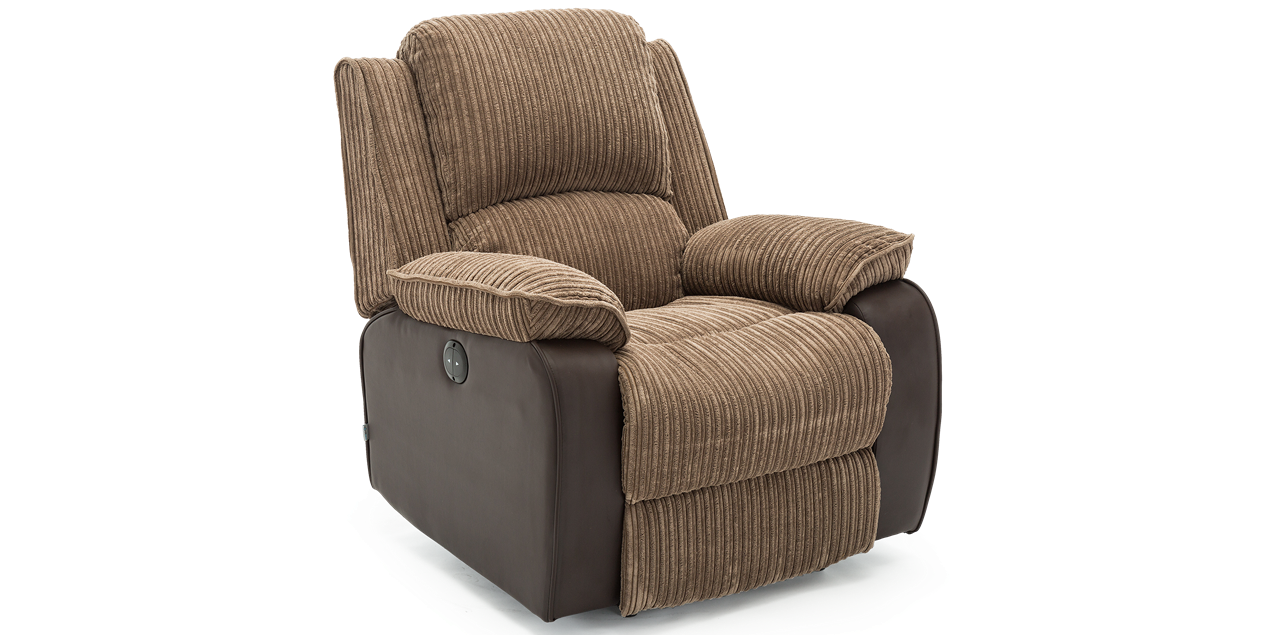 Keston Electric Recliner in Brown Jumbo Cord IMG