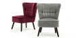 Aylenne Accent Chair in Grey Velvet Image 8
