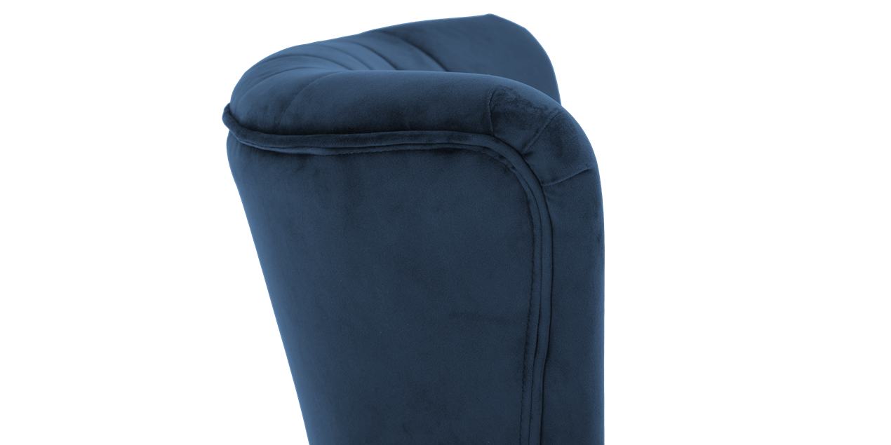 Aylenne Accent Chair in Midnight Blue Velvet IMG
