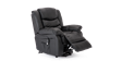 Cheshire Leather Rise Recliner Chair in Black Image 5