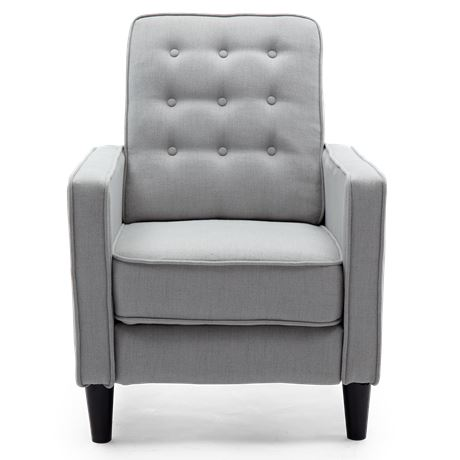 Cool Kenilworth Linen Pushback Recliner Armchair In Grey Andrewgaddart Wooden Chair Designs For Living Room Andrewgaddartcom