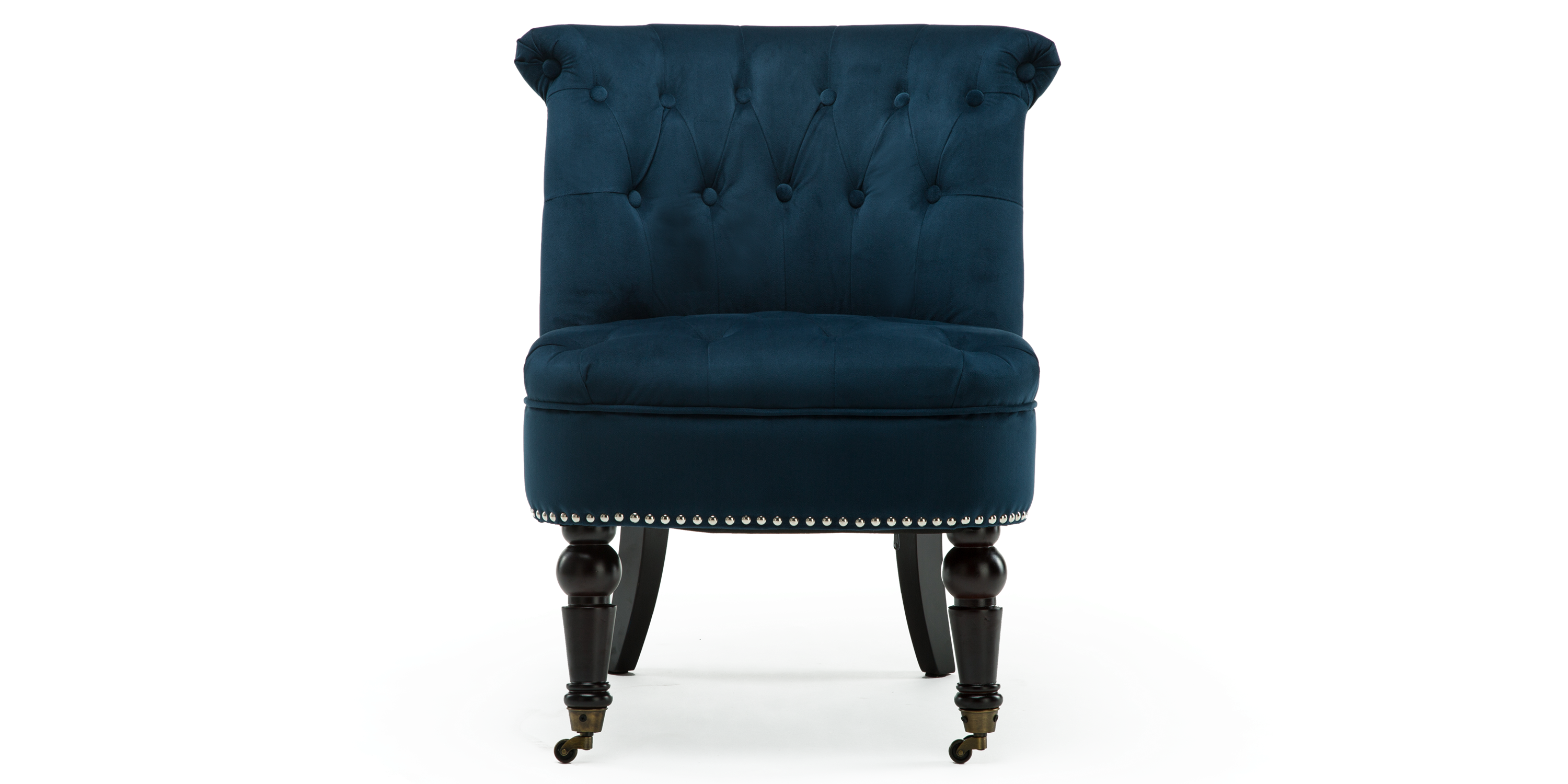 Keela Accent Chair in Midnight Blue Velvet