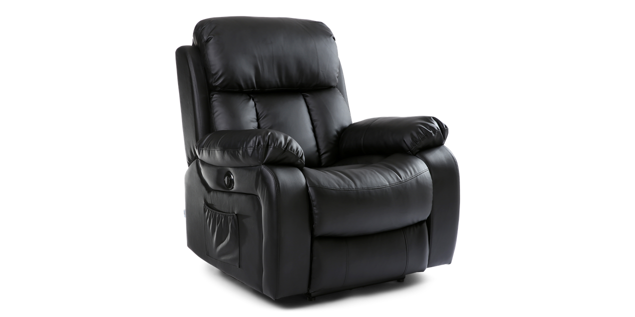 Exceptional Salisbury Electric Recliner Chair With Massage And Heat In Black IMG 0  (1270 X 635