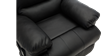 Wilson Rise Recliner Leather Chair in Black Image 2