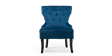 Reyna Accent Chair in Sapphire Blue Velvet Image 1