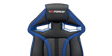 GTForce Roadster 1 Gaming Chair with Adjustable Lumbar Support in Black/Blue Image 1