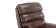 Marlow Leather Rise Recliner Chair in Brown Image 2