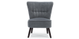 Aylenne Accent Chair in Grey Velvet Image 1