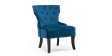 Reyna Accent Chair in Sapphire Blue Velvet Image 2