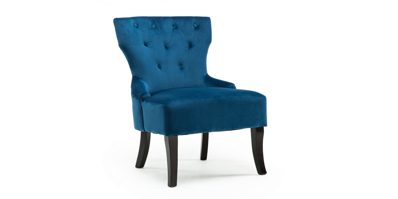 Reyna Accent Chair in Sapphire Blue Velvet IMG
