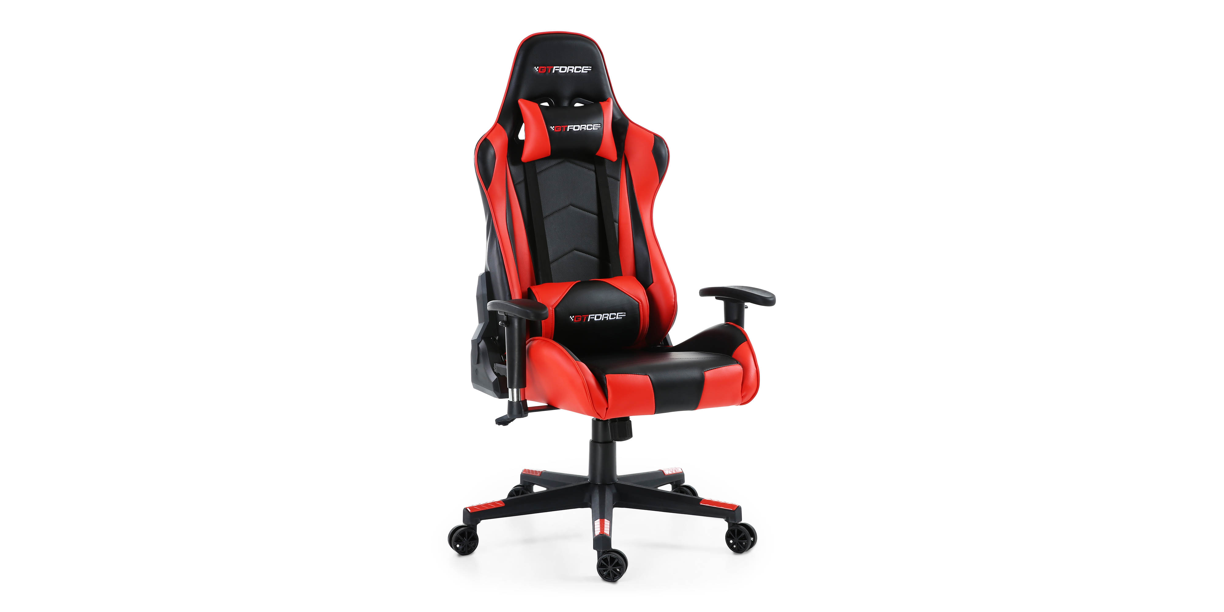 Gtforce Pro Fx Gaming Chair With Recline In Black Red