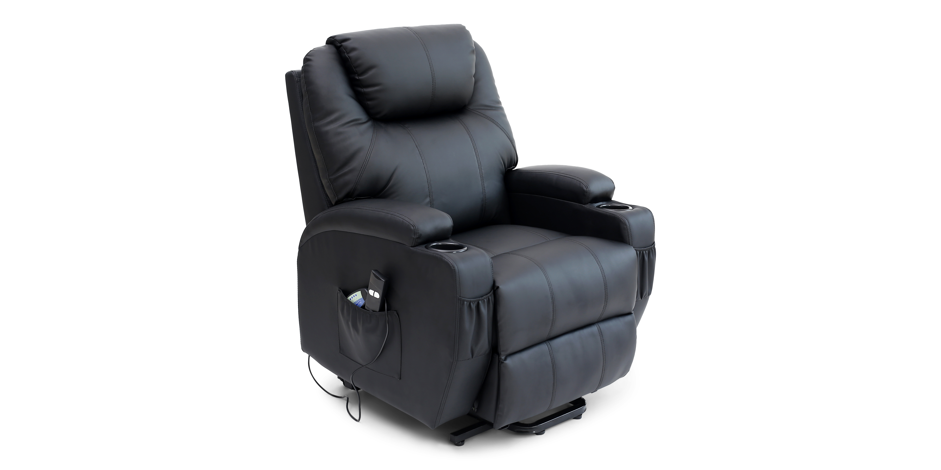 Cinemax Leather Rise Recliner Chair With Massage And Heat