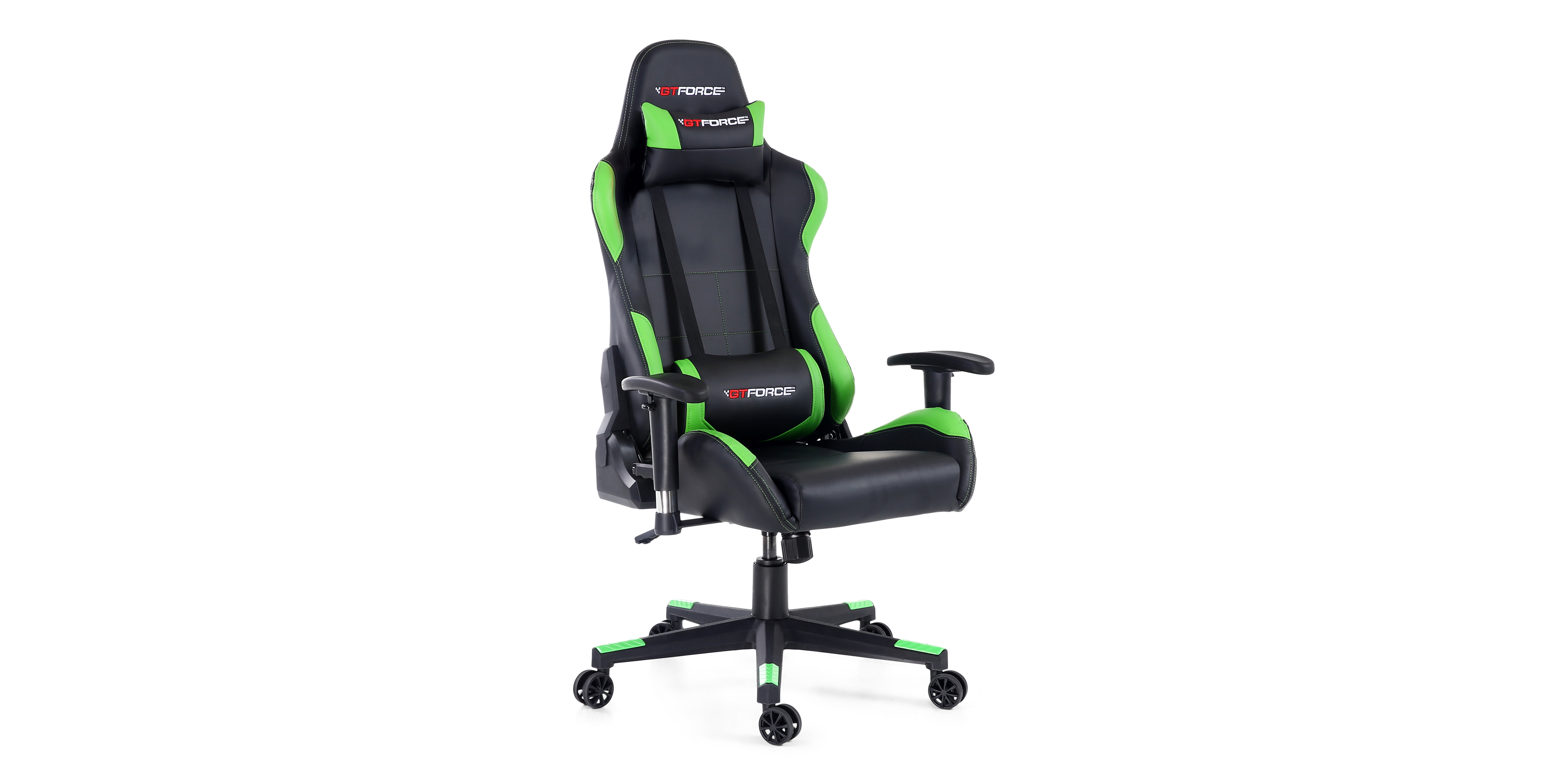 Gtforce Pro Bx Gaming Chair With Recline In Black Green