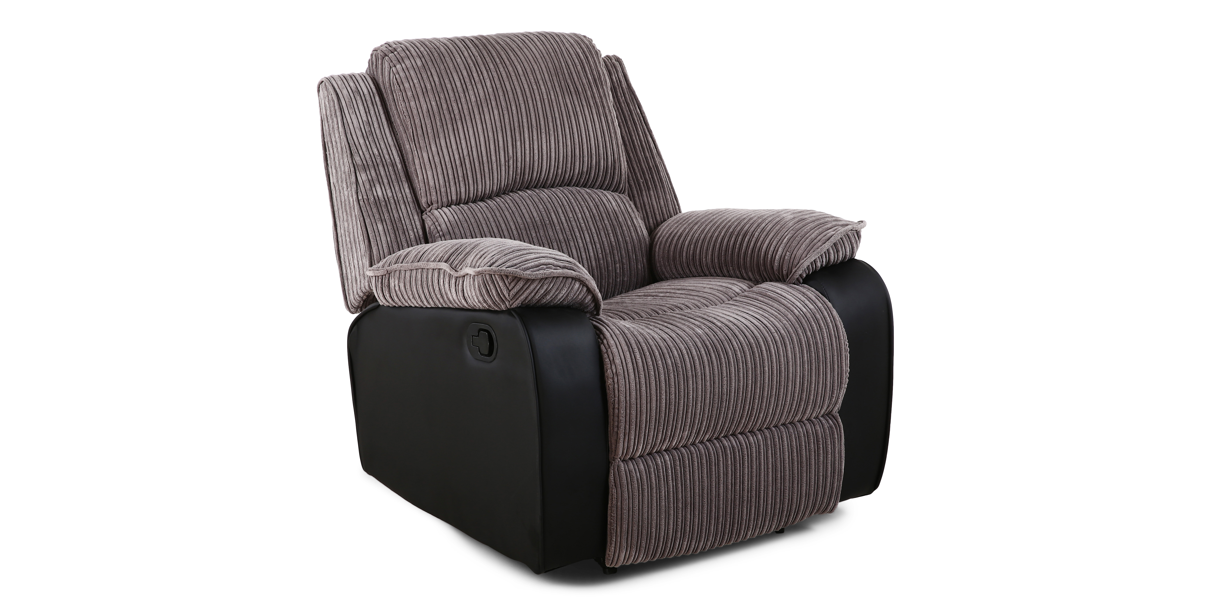 Postana Manual Recliner In Grey Jumbo Cord
