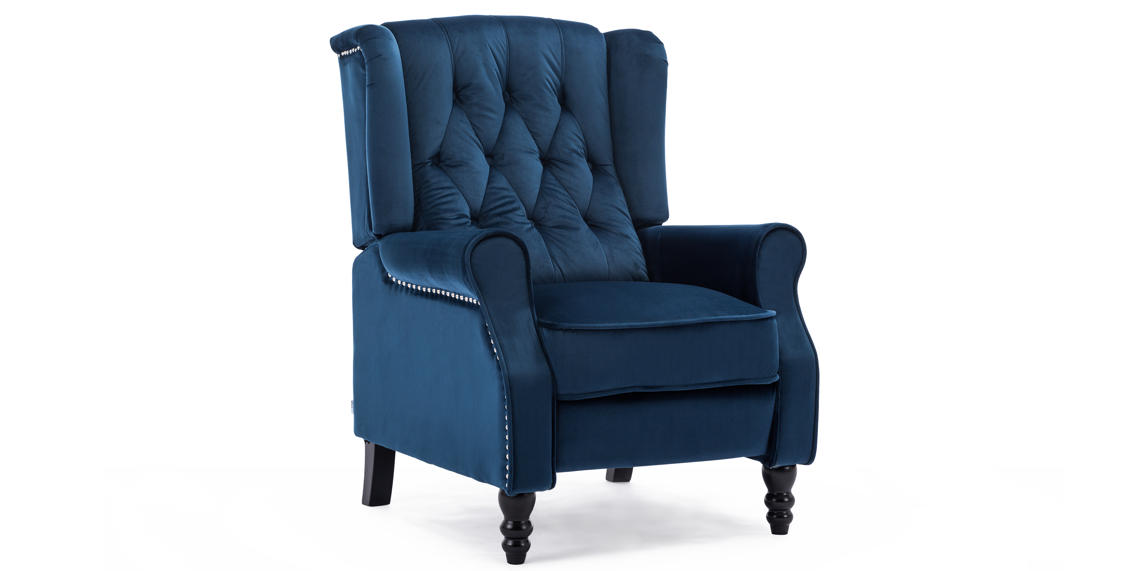 Ascott Recliner Armchair In Midnight Blue