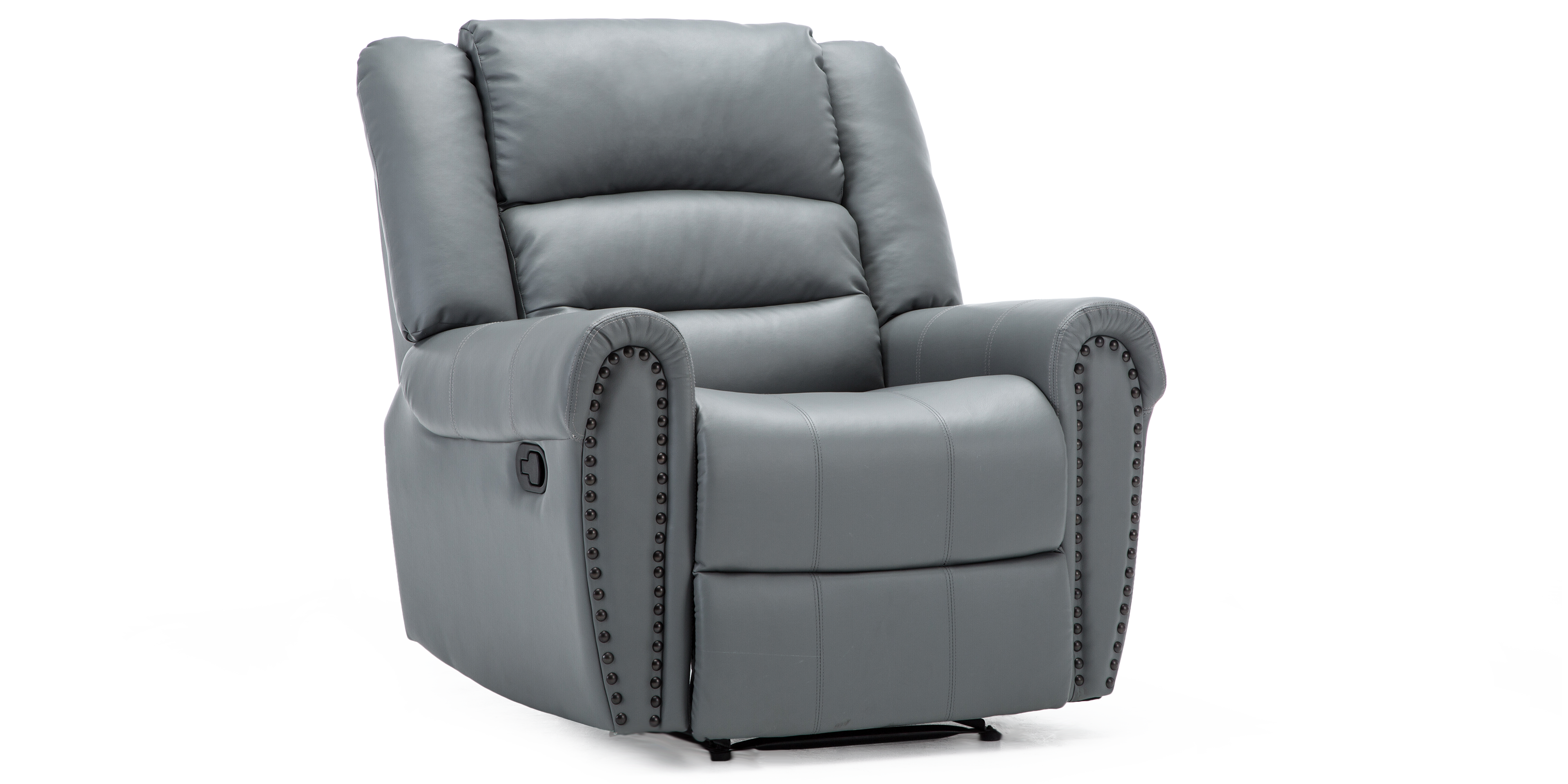 Denbury Manual Recliner Chair In Grey