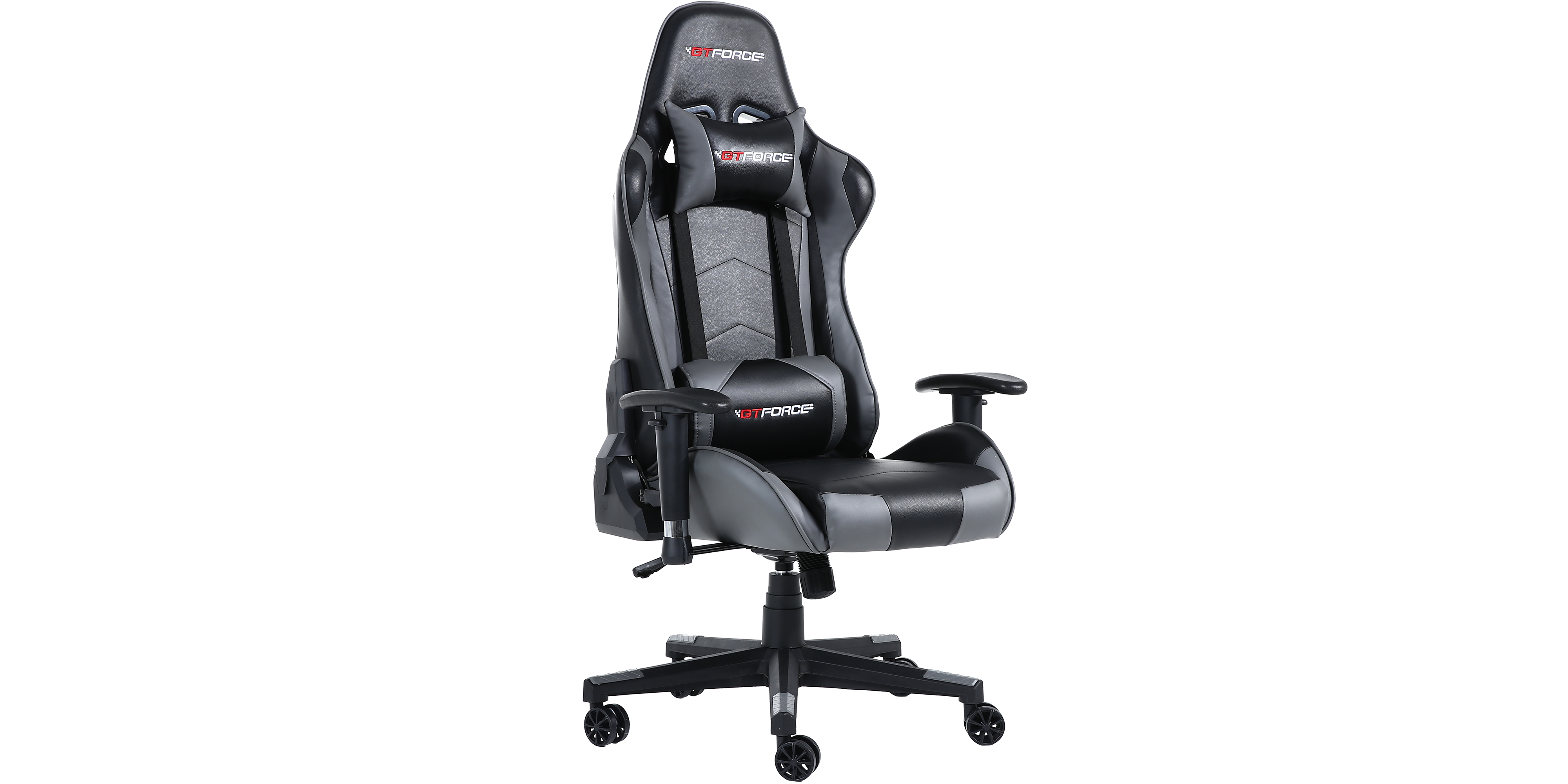 Gtforce Pro Fx Gaming Chair With Recline In Black Grey